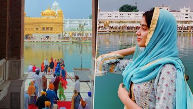 Dostana 2: Janhvi Kapoor Visits Golden Temple Before She Starts Shooting for Kartik Aaryan's Film (View Pic)