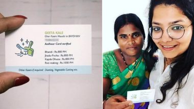 Pune Housemaid, Geeta Kale, Gets Flooded With Job Offers After Her 'Visiting Card' Goes Viral on Facebook
