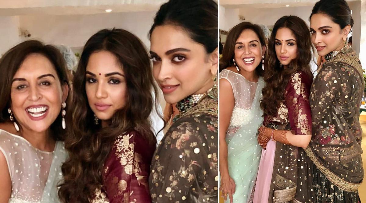 Deepika Padukone Stuns in a Sabyasachi Creation at a Friend's Wedding in Bengaluru (View Pic)