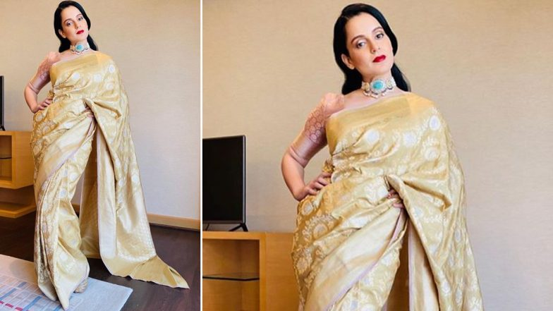 Yo or Hell No? Kangana Ranaut's Banarasi Saree for her Brother's Engagement Ceremony