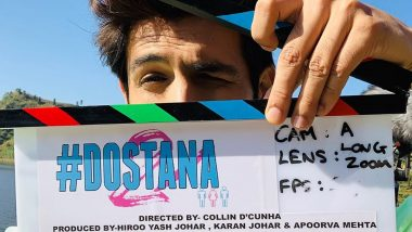 Dostana 2: Kartik Aaryan Kickstarts the Shooting of his Next with Janhvi Kapoor and Lakshya - Check out Picture