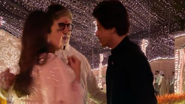 Amitabh Bachchan Shares a Precious Picture with Shah Rukh Khan and Gauri Khan from his Diwali Bash This Year (View Pic)