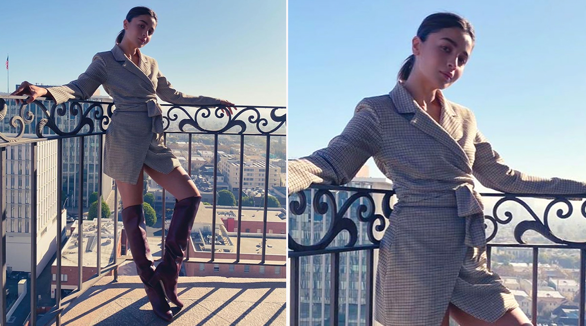 Yo or Hell No? Alia Bhatt's Blazer Dress by Song of Style During her Recent American Holiday