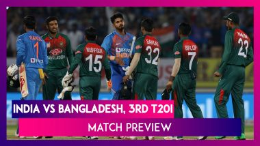 India vs Bangladesh 3rd T20I 2019 Match Preview: BAN Hope to Upset Fancied IND For Maiden Series Win