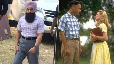 Laal Singh Chaddha: Aamir Khan Goes the Original Forrest Gump Way, Leaked Pic Shows Him in a Chequered Shirt Look Similar to Tom Hanks
