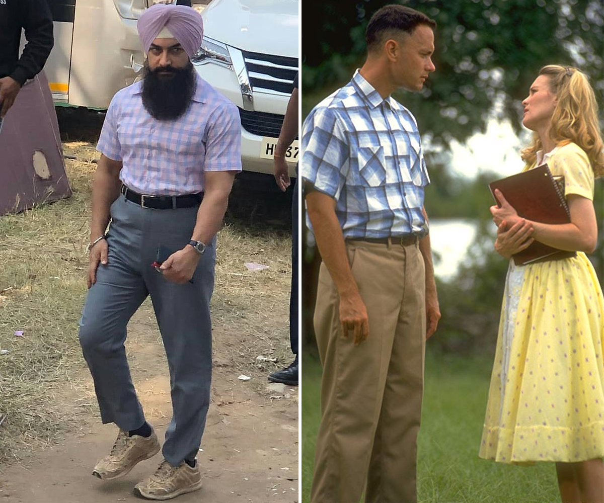 Aamir Khan in Laal Singh Chadda, Tom Hanks in Forrest Gump.