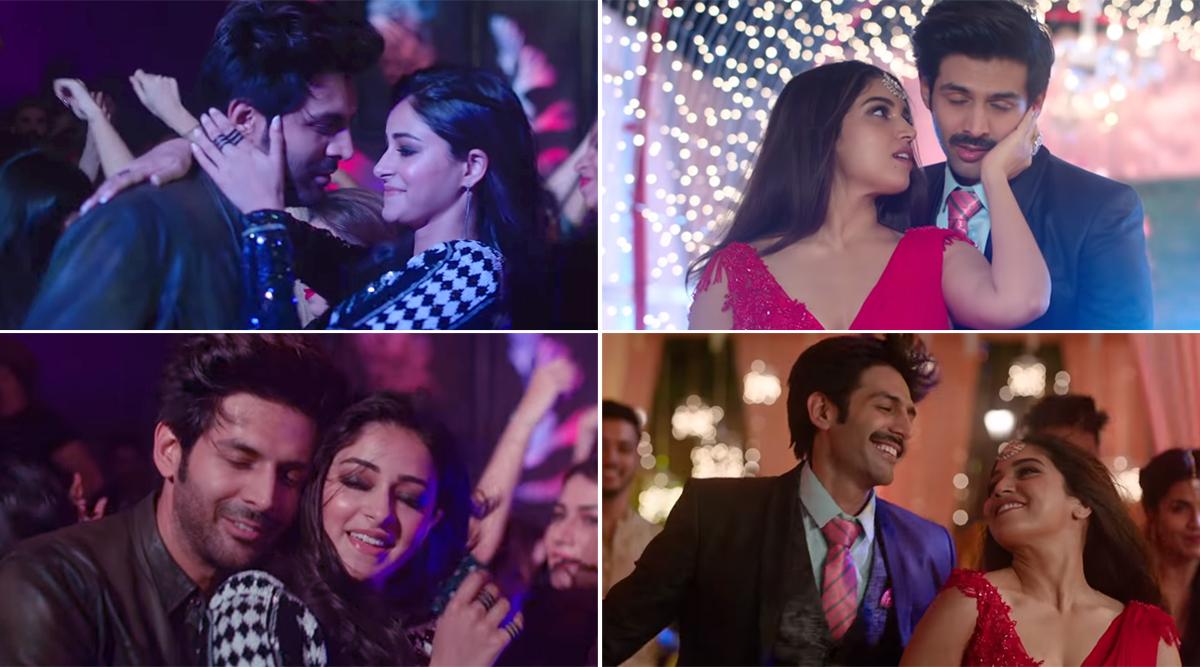 Dheeme Dheeme Song from Pati Patni Aur Woh: Kartik Aaryan, Ananya Panday and Bhumi Pednekar Groove to the Remix of Tony Kakkar's Popular Track