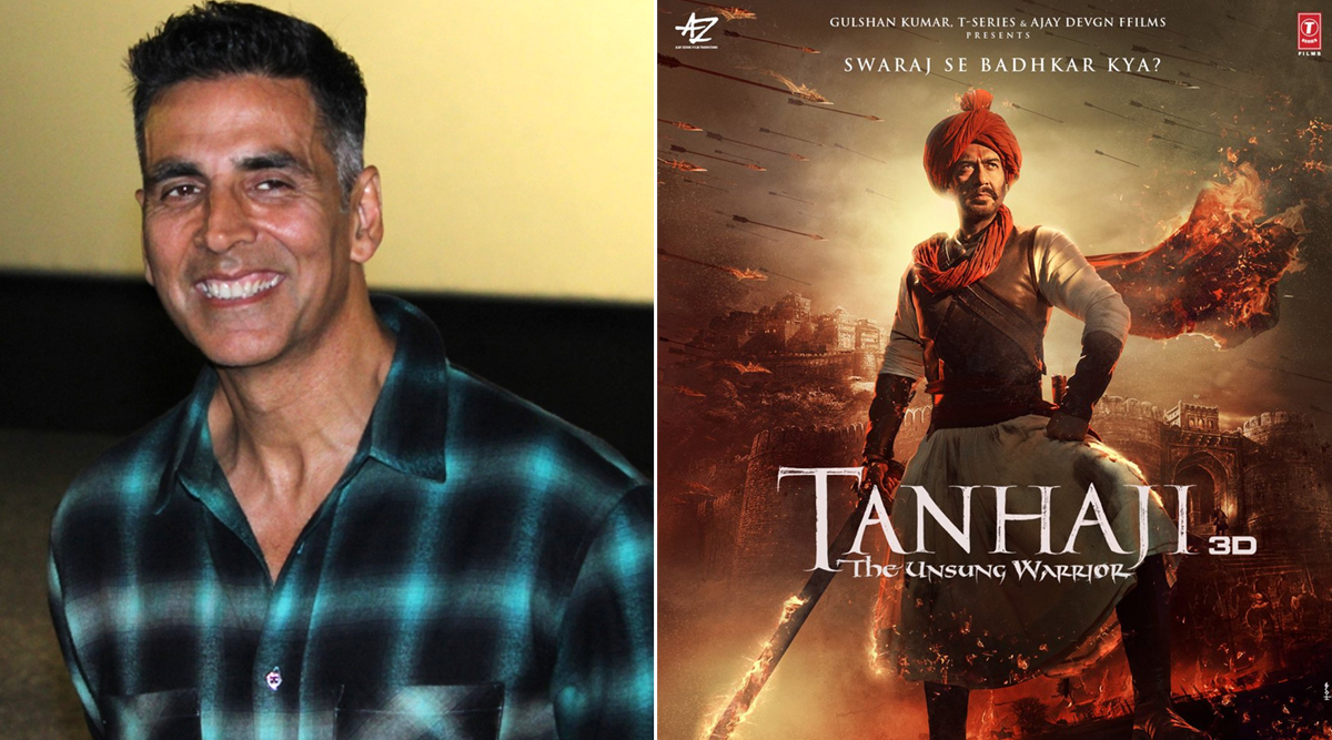 Akshay Kumar Posts a Special Message for Ajay Devgn Congratulating Him for His 100th Film, Shares New Poster of Tanhaji: The Unsung Warrior