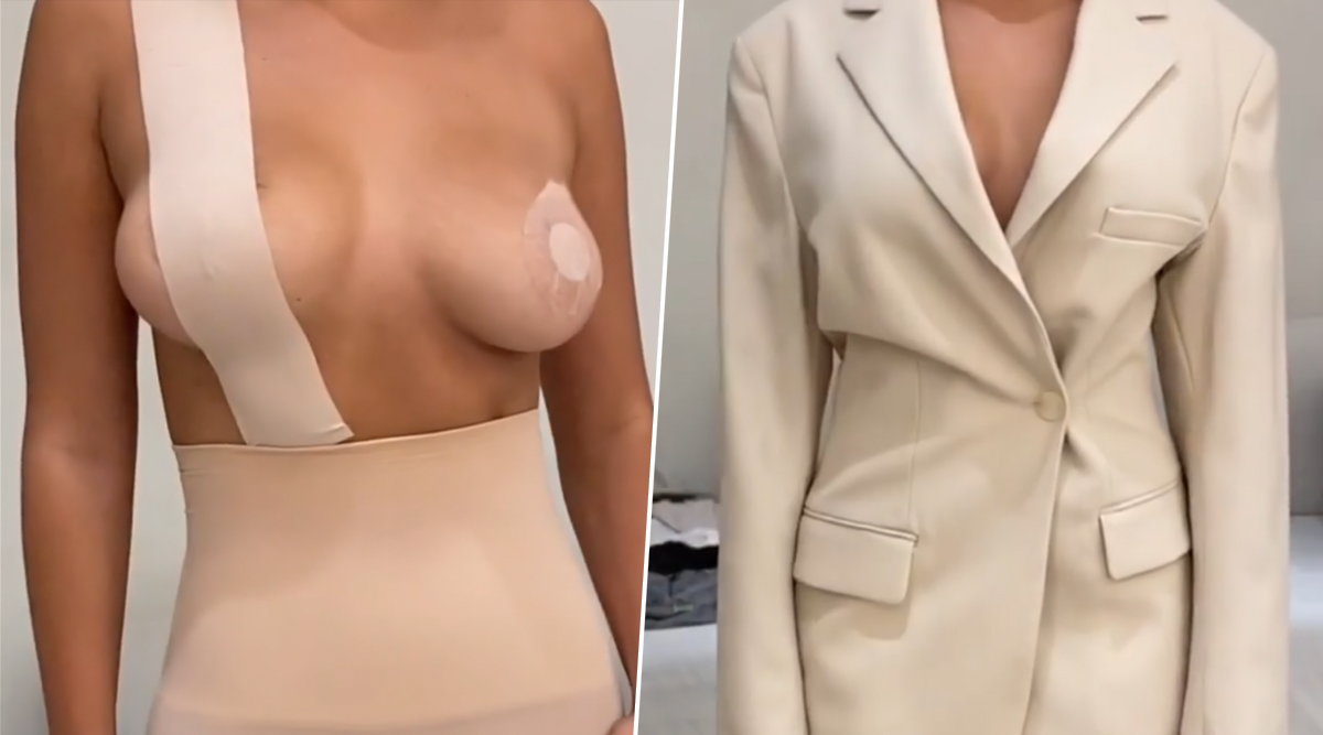 Kim Kardashian Shows You How to Get Gravity-Defying Breasts Using SKIMS Body Tate and Pasties (Watch Video Tutorial)