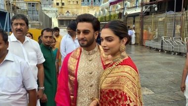 Deepika Padukone and Ranveer Singh Look Like Newlyweds as they Reach Tirupati to Seek Blessings on their First Wedding Anniversary