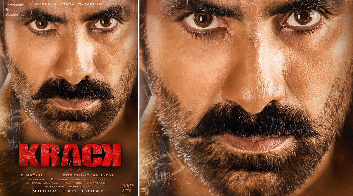 Krack: Ravi Teja Looks Intense on the First Look Poster of His Upcoming Action Drama Based on True Events (View Pic)