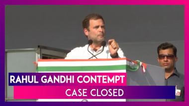 SC Closes Contempt Plea Case Against Rahul Gandhi For Attributing 'Chowkidar Chor Hai' To Court