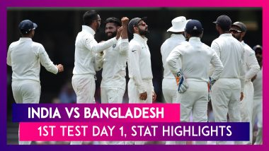 IND vs BAN Stat Highlights 1st Test 2019 Day 1: India Prove Too Heavy For Toothless Bangladesh