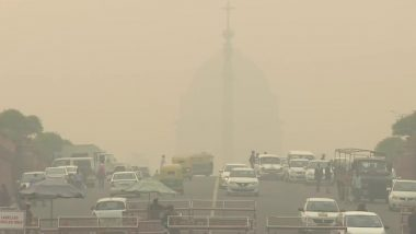 Delhi Air Pollution: Rashtrapati Bhavan, India Gate Enveloped by Toxic Smog as AQI Slips to 'Severe' Category