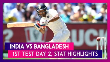 IND vs BAN Stat Highlights 1st Test 2019 Day 2: Mayank Agarwal Leaves Bangladesh Dry With Double Ton