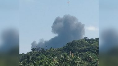 MiG-29K Fighter Aircraft of Indian Navy Crashes in Goa Soon After Take Off, Both Pilots Safe