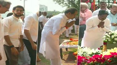 Bal Thackeray Death Anniversary: Uddhav Thackeray, Aaditya Thackeray, Devendra Fadnavis and Other Leaders Pay Tribute to Late Shiv Sena Founder; See Pics