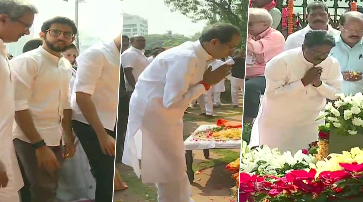 Bal Thackeray Death Anniversary: Uddhav Thackeray, Aaditya Thackeray, Devendra Fadnavis and Other Leaders Pay Tribute to Late Shiv Sena Founder; See Pics