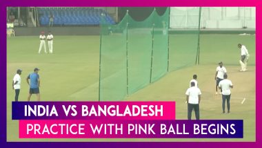 India vs Bangladesh 2nd Test: Practice Begins With Pink Ball Ahead Of The First-Ever Day-Night Test