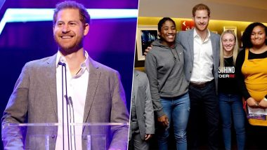 Prince Harry Makes First-Time Appearance on an Award Show to Felicitate Young Kids Making a Difference (View Pics)