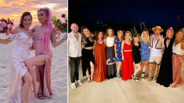 Lady Gaga Makes a Beautiful Bridesmaid for Best Friend and Makeup Artist Sarah Tanno (View Pics)