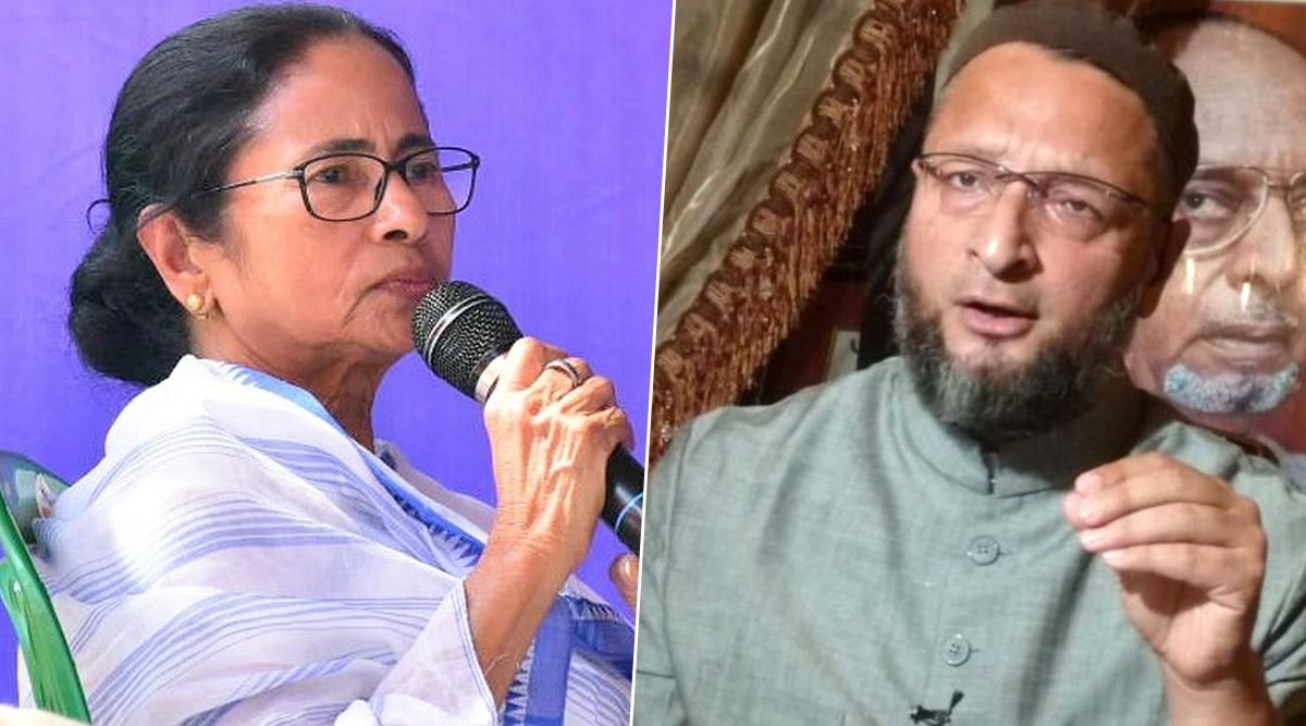 Asaduddin Owaisi Hits Back at Mamata Banerjee Over 'Minority Extremism' Remark, Says 'Tell Us How BJP Won 18 Out of 42 LS Seats From Bengal'
