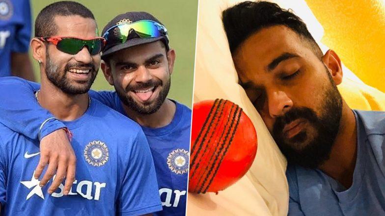 Virat Kohli, Shikhar Dhawan React to Ajinkya Rahane's Post on Pink Ball Test