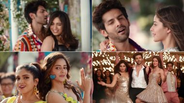 Pati Patni Aur Woh Song Ankhiyon Se Goli Mare: Sorry Kartik Aaryan But Ananya Panday and Bhumi Pednekar Grabbed our Eyeballs in this Remake (Watch Video)