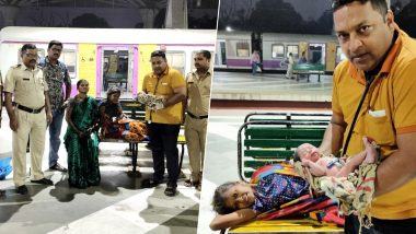Mumbai: Woman Travelling in Local Train From Nerul Delivers Baby at Panvel Railway Station