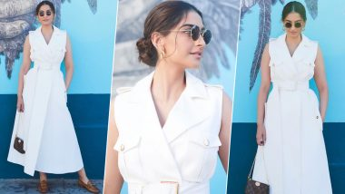 Yo or Hell No? Sonam Kapoor's White Midi Dress by Ralph & Russo