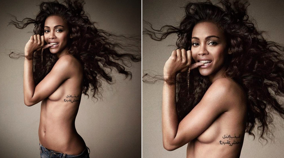 Avengers: Endgame Star Zoe Saldana Shares a Topless Throwback Picture on Instagram and It is Too Hot to Handle!