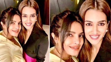 Kriti Sanon's Recent Selfie with Priyanka Chopra will Make all 'Parvati Bai' and 'Kashi Bai' fans Happy (View Pic)