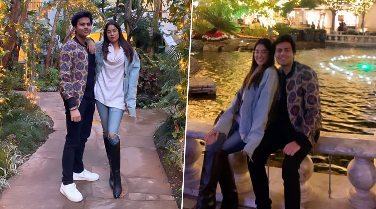 Janhvi Kapoor is All Smiles Posing With Once Rumoured Boyfriend Akshat Rajan and Fans are Wondering If The Duo is Back Together (See Pics)