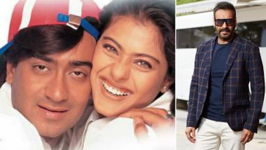 Ajay Devgn Shares an Adorable Post Dedicating 'Neend Churayi Meri' Song to Wifey Kajol as Their Film Ishq Completes 22 Years