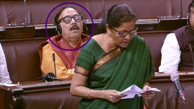 Mahendra Nath Pandey Sleeps During Nirmala Sitharaman's Speech in Rajya Sabha Over Economic Slowdown, Netizens Troll BJP MP