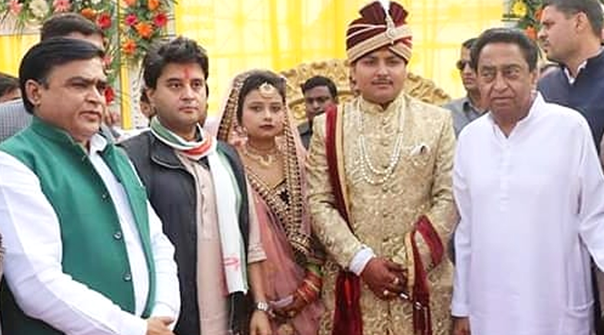 Jyotiraditya Scindia, Kamal Nath Attend Marriage of Congress MLA's Granddaughter Amid Reports of Infighting