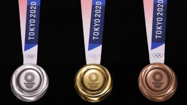 2020 Tokyo Olympics Medals: 80,000 Tons of Unused Electronic Devices Recycled to Make Medals for XXXII Summer Olympics (Watch Video)