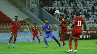 India vs Oman, 2022 FIFA World Cup Qualifiers Result: Sunil Chettri and Boys Lose to Oman 1-0 in a Hard-Fought Match