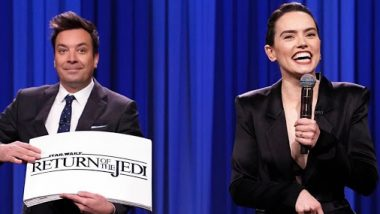 Daisy Ridley's Amazing Rap Recapping All 8 Star Wars Films on the Jimmy Fallon Show is Driving Fans Crazy (Watch Video)
