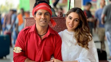 Coolie No 1 Remake: Varun Dhawan Shares A Picture With Sara Ali Khan; The Actress Accuses Him Of Stealing Her Caption (View Pic)