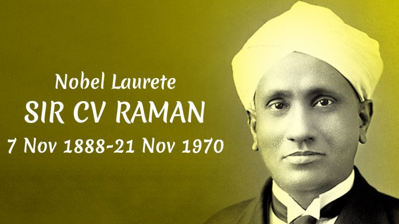 C.V. Raman's 131st Birth Anniversary: Twitter Wishes the Nobel Laureate with Inspirational Quotes and Messages