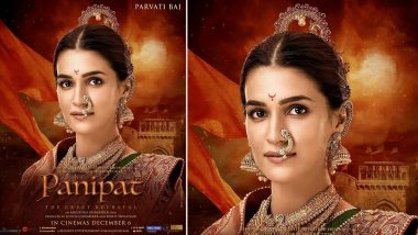 Panipat: Kriti Sanon's First Look as 'Parvati Bai' is Utterly Charming and Very Royal (View Pic)