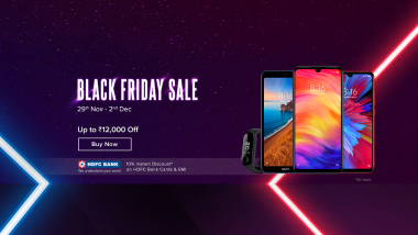 Xiaomi Black Friday Sale 2019: Get Discount Up To 12,000 on Mi Redmi K20 Pro, Poco F1, Redmi Go, Mi A3, Redmi Y3, Redmi Note 7 Pro Smartphones & Accessories