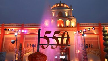 Guru Nanak Dev 550th Birth Anniversary: 'Ik Onkar' Formed Using Drones at Sultanpur Lodhi