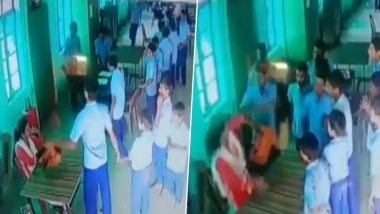 Uttar Pradesh: Child Welfare Official Thrashed by Students of Gandhi Sewa Niketan in Raebareli (Watch Video)