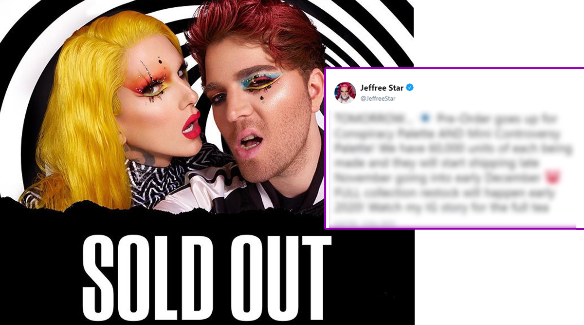 Shane Dawson and Jeffree Star's Conspiracy Collection To Be Restocked! YouTubers Promise Pre-Orders for Conspiracy and Mini Controversy Palette