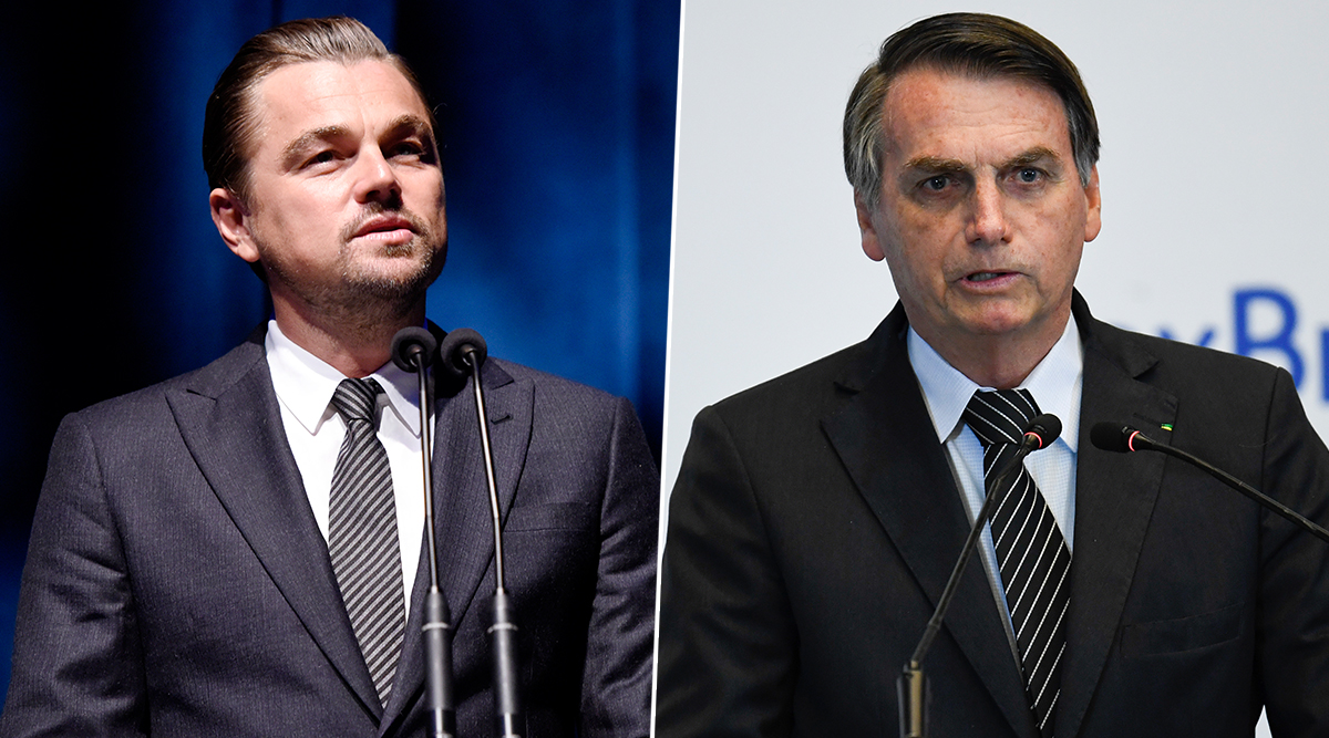 Leonardo DiCaprio Is 'Giving Money to Set Amazon on Fire' Accuses Brazil President Jair Bolsonaro