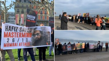 26/11 Mumbai Attacks: Anti-Pakistan Protests Take Place in Geneva, Tokyo & Paris, Slogans Raised Against Hafiz Saeed