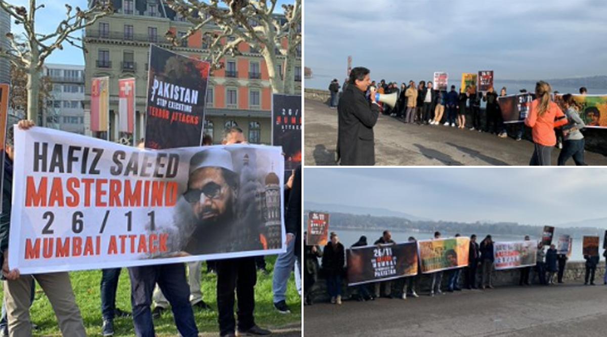 26/11 Mumbai Attacks: Anti-Pakistan Protests Take Place in Geneva, Tokyo & Paris, Slogans Raised Against Hafiz Saeed