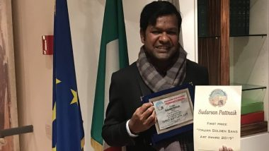 Sudarsan Pattnaik Becomes First Indian to Win Italian Golden Sand Art Award 2019 (View Pic)